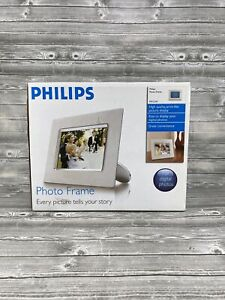 Philips 7-Inch Digital Picture Photo Frame 7FFICMI For Digital Photos White New