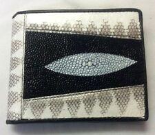Genuine Python&Stingray Wallets Skin Leather Bifold Men's Purses Bags Handmade