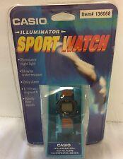 VTG NOS Casio 50M Illuminator Sport Watch Water Resist Unopened Sealed Electro