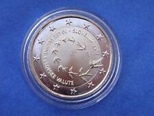 """2 euros commémorative SLOVENIE 2017 """" Introduction de l'euro """"  sous capsule"""