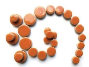 Orange Ceramic Discs - Mosaic Tiles Supplies Art Craft