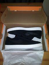 *New* Nike Blazer Low Black Sail White Shoes Suede 371760 024 Men's Size 10.5 SB