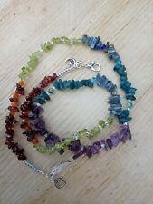 RAINBOW gemstones NECKLACE Chakra AMETHYST Neon APATITE GARNET KYANITE PERIDOT