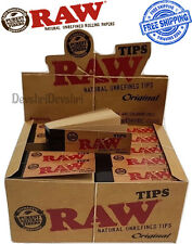 Genuine RAW Rolling Paper Roach Filter Tips Original / Roach Book Chlorine Free