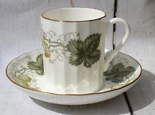 Vintage Royal Worcester Fine Bone China Coffee Cup & Saucer Hops Mathon Pattern