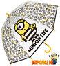 KIDS BOYS GIRLS DESPICABLE ME 3 MINIONS BUBBLE DOME UMBRELLA BROLLY 888