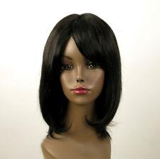 perruque AFRO femme 100% cheveux mi longue naturel noir ISA 02/1b