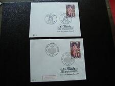 FRANCE-2 enveloppes 1er jour (le monde des philatelistes) 5/11/1966 (cy40)french