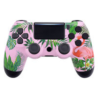 Tropical Flamingo Faceplate Upper Housing Shell for PS4 Slim Pro Game Controller