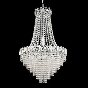 Searchlight 6 Light Chrome Finish Crystal Chandelier With Clear Glass Beads New
