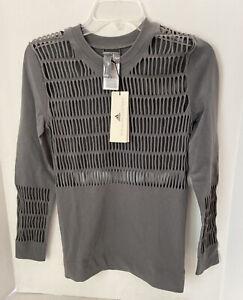 Stella McCartney x Adidas DY4182 Warp Knit Top Grey SZ M NWT $120