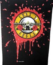 "Guns N 'ROSES schiena ricamate/Back Patch # 10 ""Blood logo"" 36x29cm VINTAGE 1991"