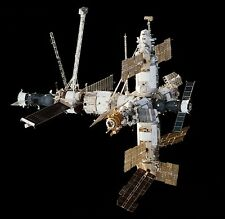 Mir Satellite Russian Space Station Wood Model Replica Small Free Shipping
