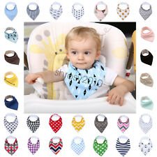 gb Baby Feeding Head Scarf Towel Bib Boy Girl Bandana Saliva Triangle Dribble