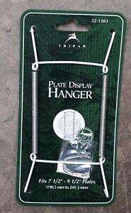 TRIPAR - plate hanger, metal, white vinyl coating, 7 1/2 - 9 1/2 - 2 pack