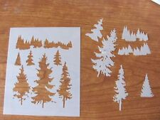 Forest Trees Outdoors Airbrush  Mylar Stencil Reusable Durable L233**