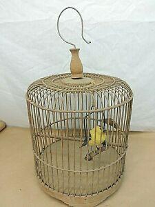 VINTAGE WOODEN DECORATIVE BIRD CAGE