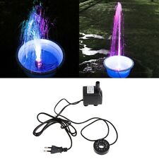LED Light Submersible Water Pump Aquariums Fish Pond Fountain Sump Waterfall 10W