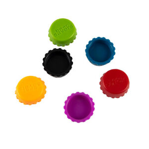 6Pcs Silicone Beer Bottle Cap Reuse Practical Colorful Leak Free Stopper Co*wf