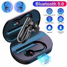 Single Wireless Bluetooth 5.0 Earphone Headset Business Driving Sport Headphone