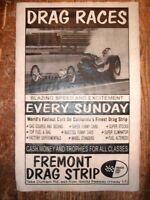 """(599L) DRAG STRIP FREMONT HEMI DRAGSTER GASSER GARAGE RACING POSTER 11""""x17"""""""