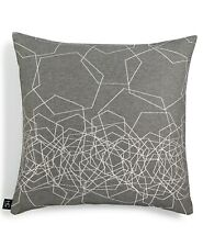 "Hallmart Collectibles 18"" Square Decorative Pillow Hexagon Metallic Grey T94035"