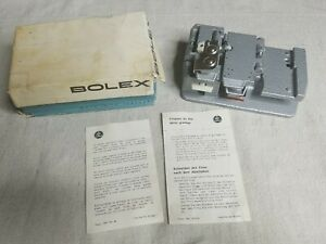 Bolex Tape Splicer Vintage Super 8 Film mm Made in Switzerland w/ Box and Manual
