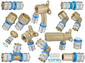 CONEL CONNECT Fitting Wandscheibe T-Stück Kupplung Übergang Winkel große Auswahl