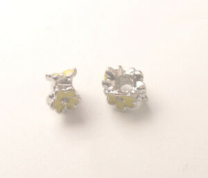 20PCS Rhinestone Enamel Inner Thread European Beads Fit Charm Bracelet