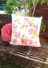 Shabby French Country Vintage Chiffon Lavender Rose Euro Sham Bed Pillow Cover