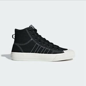 New Adidas Originals Nizza Hi RF Men's Casual Shoes Black/White Size 10 F34057