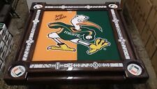 University of Miami & we add your name Domino Table by Domino Tables by Art