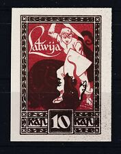 Latvia 1919 Scott 64 imperforated color proof MNG offset