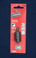 NEW VERMONT AMERICAN ADJUSTABLE WOOD, METAL AND PVC COUNTERSINK 16646