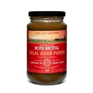 Halal Asian Fusion Broth Concentrate - Instant beef broth beverage 395 gram New