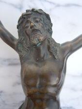 Sculpture christ en bronze d'époque 19ème