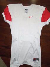 NIKE Pro Combat white & red football Jersey shirt size MEDIUM  retail $75