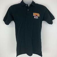 Pittsburgh Pirates Medium Polo Shirt Pirate Logo Black Short-Sleeve MLB Baseball