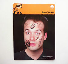 HALLOWEEN HORROR PARTY SCAR FACE TEMPORARY TATTOO COSTUME ACCESSORY SCARS WOUNDS