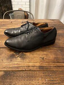 Allen Edmonds Sanford Black Leather Cap Toe Oxford Dress Shoe 10.5 EEE
