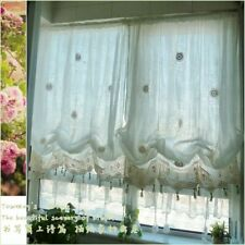 Pastoral Curtains Panels Adjustable Balloon Style Window Treatments Cotton Decor