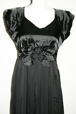 NWT Modest Black Long Formal Prom Concert Dress Womens SZ 8 Ships From USA
