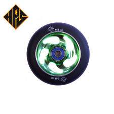 1 pair pro scooter wheels metal core green lightning 100mm 88a abec 11 bearings