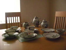 VINTAGE 18PC HAND PAINTED JAPANESE EGGSHELL TEASET - POTS, TRIOS SIDE PLATES ETC