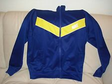 NEW WT MENS ATHLETIC NIKE POLYESTER JACKET SWEAT SHIRT BLUE YELLOW 544133 409 L