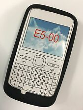 Nokia E5-00 Fitted Silicone Case Cover - Black SSNOKE5-A Brand New Original Pack