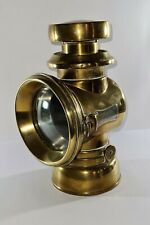More details for stunning antique lucas kings own no f 144 brass oil carriage lamp birmingham