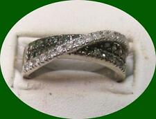 Charming Women's White Gold 14kt Colored Diamond Ring -- Size 8