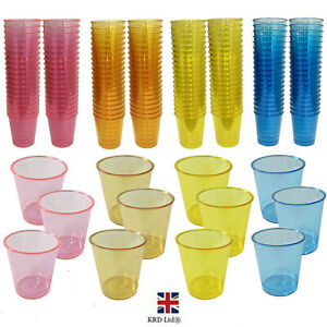 Plastic Shot Glasses Neon Coloured Wedding Party Games Reusable Drinking Cups
