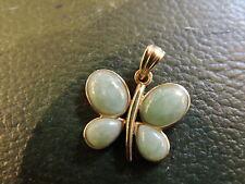 Pendentif papillon or 18 carats et jade